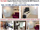 For Sale!! Aspire Rama 9 near Central & MRT Rama 9.