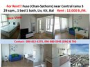 RENT Condo FUSE (Chan-Sathorn) Fully furnish!!!