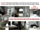 For Rent! Townhouse Thanapat S. nonsi 20 near Lotus & Central rama 3