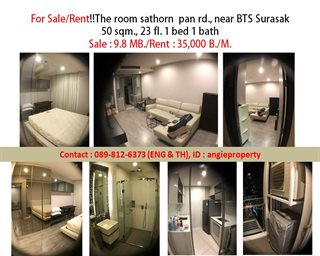 For Sale/Rent The Room  Sathorn  pan rd., near BTS Surasak