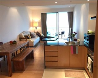 For rent The Pano Riverfront condo, 110sqm., 2 bedrs, 2bathrs wiith full furnished and ele...